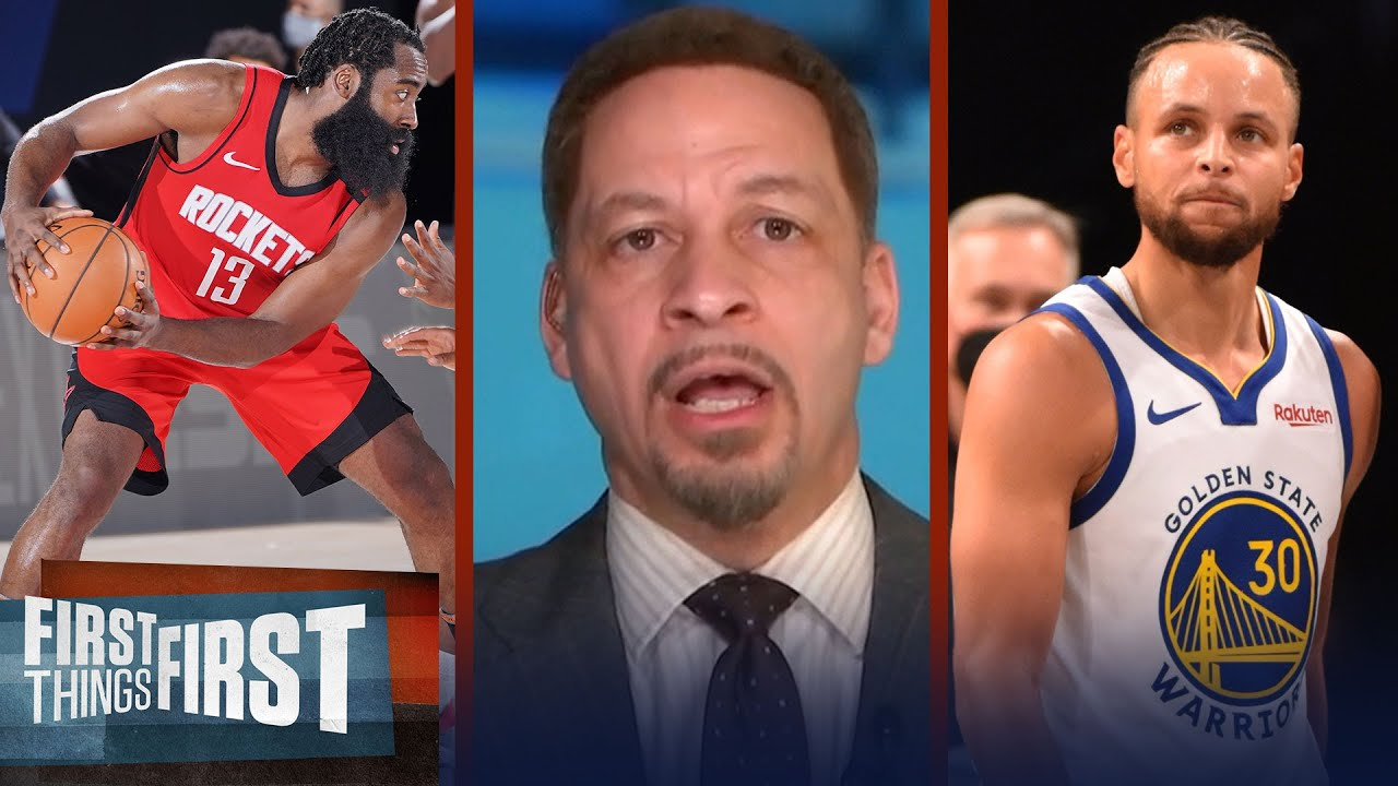 Steph needs help for GSW to make playoffs; talks Harden NBA options — Broussard   FIRST THINGS FIRST