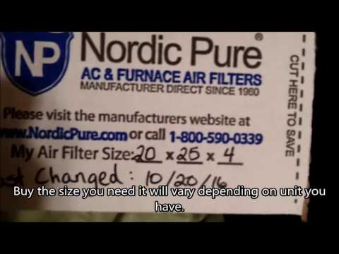 Carrier AC/Heating Air filter replacement