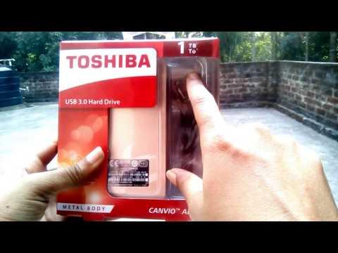 UNBOXING TOSHIBA EXTERNAL HARD DISK (GOLD)-1TB