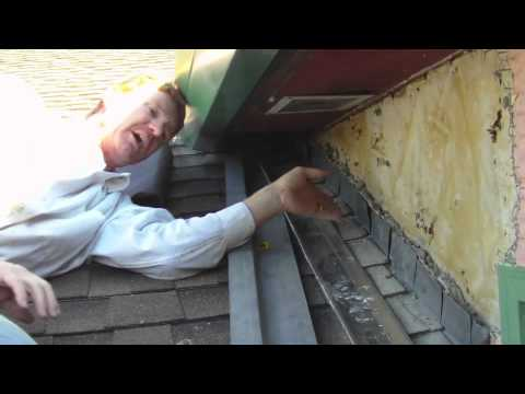 Remove and repair roof to wall flashing with proper Z flashing properly