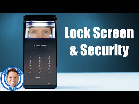 Lock Screen & Security Settings for Galaxy S8, S8+ & Note 8