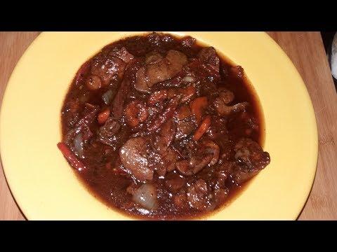 Stewed Chicken Liver