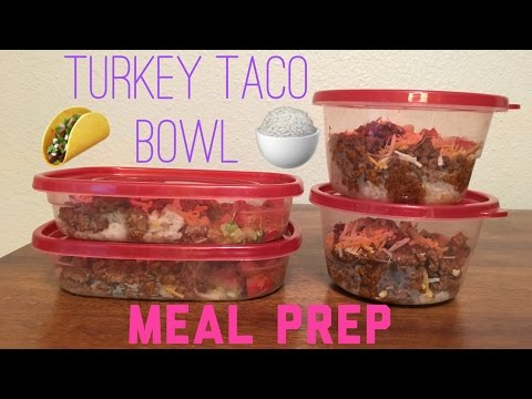 EASY MEAL PREP FOR WEIGHTLOSS | Turkey Taco Bowl