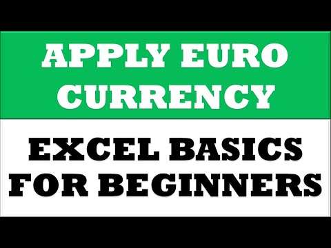 How to Change Value to Europe Euro Currency Format in MS Excel 2016