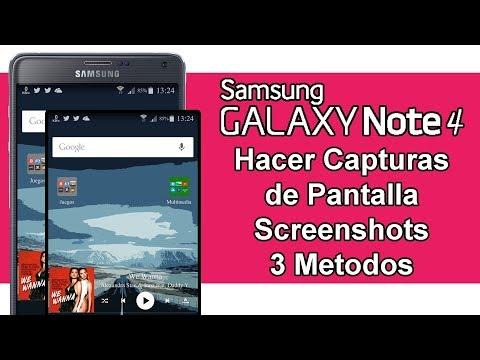 Samsung GALAXY Note 4 - Hacer Capturas de Pantalla