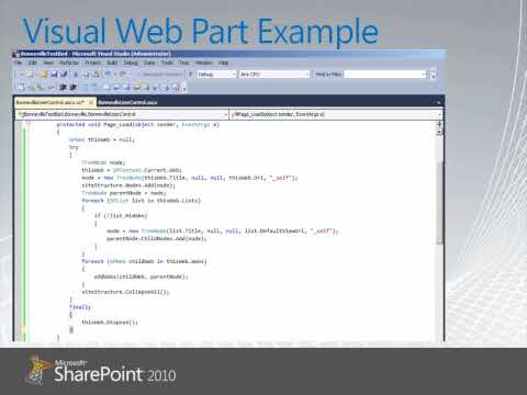 Sharepoint 2010 Visual Web Parts