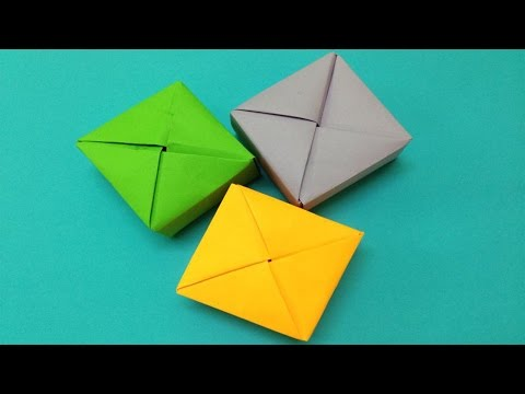 How to make a paper box | Easy origami paper box for beginners making | DIY-Paper Crafts