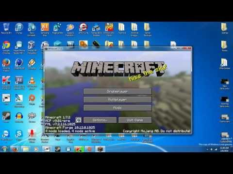 How to install mods on Minecraft 1.7.2 Cracked/Premium