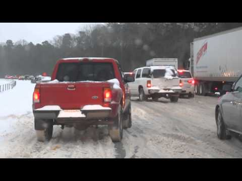 southerners driving in snow and ice