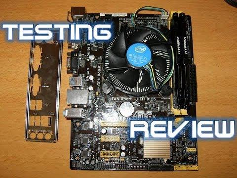 Motherboard Asus H81M-K Processor Intel Core i3 4150 Memory kingston 8gb Review Gaming Windows 10