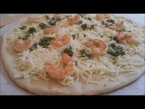 How to make a Shrimp Pesto Pizza PIY