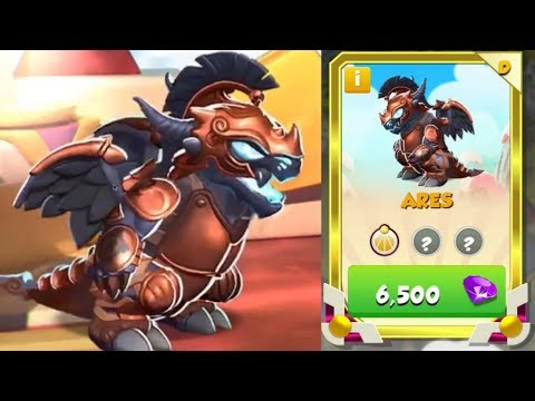 DIVINE ARES DRAGON NOW OUT! Costs 6500 Gems In the Shop! - DML #625