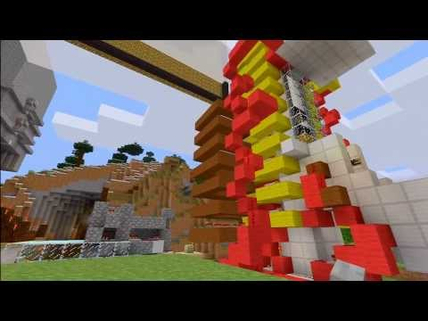 First Piston Car elevator (Best Elevator) on Minecraft XBOX 360 edition (up and down elevator)