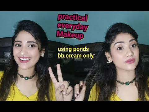 EASY EVERYDAY MAKEUP l   using ponds bb cream only   shy styles