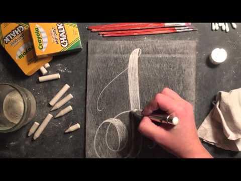 SheShe Design Chalk Script Lettering UPPERCASE J
