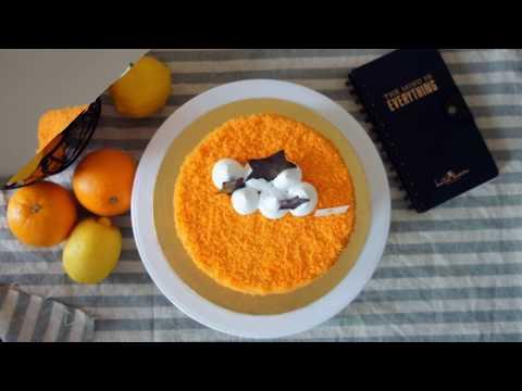 Sweet Sparkler - Citrusy Taste of Real Orange (Koozilla Orange Cake)