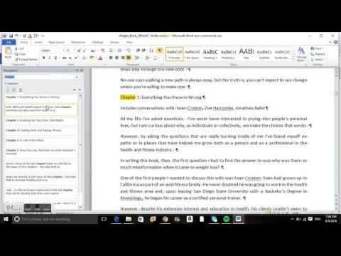 How to format your word document for Kindle - step 2