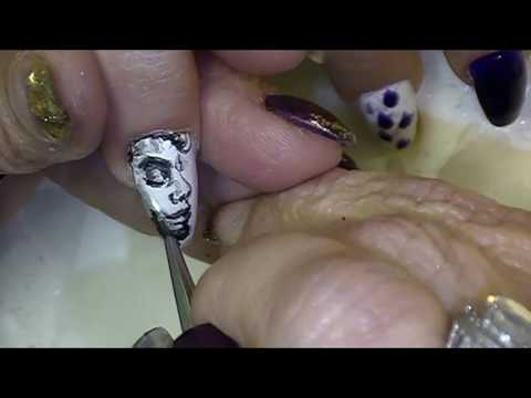 Freeda Latham's Prince Nail Art Tutorial