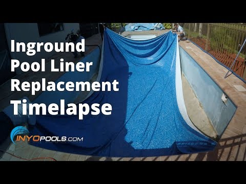Inground Pool Liner Replacement Timelapse