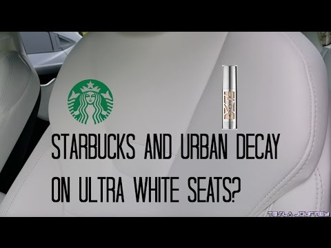 Testing the Stain Resistant Ultra White Seats | Tesla Journey
