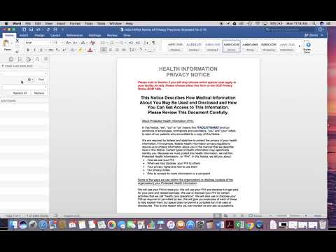 Find & Replace Word Document with a Mac