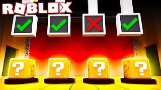 Roblox Adventures - CHOOSE THE RIGHT BOX OR DIE IN ROBLOX! (Roblox Lucky Block)