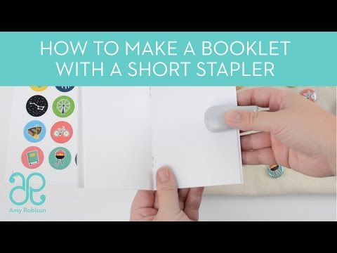 How to make a booklet with a short stapler
