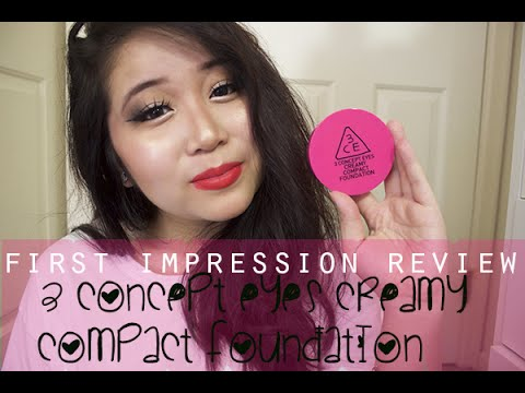First Impression Review: 3 Concept Eyes Creamy Compact Foundation