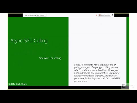 DirectX 12: Execute Indirect and Asynch GPU culling