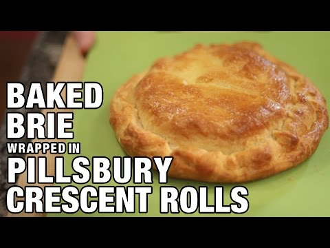 Baked Brie Wrapped in Pillsbury Crescent Rolls | The Hungry Bachelor