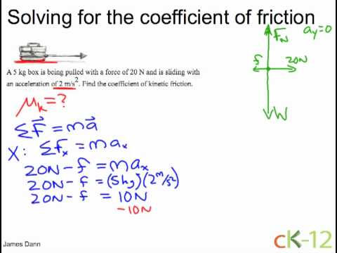 An Example Problem Concerning Coefficient Kinetic Friction