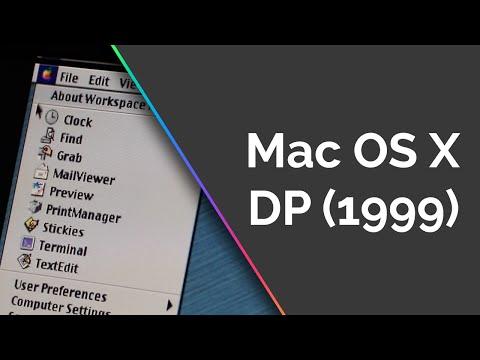 Mac OS X Developer Preview Tour (DP - 1999) - Software Showcase