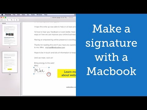 How to make a Digital Signature with a Macbook