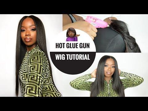How I Made A Bomb Wig Using Hot Glue