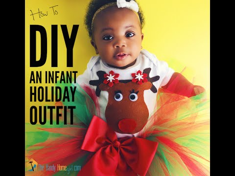 How To DIY Holiday Outfit For Baby: Onesie & Tutu Tutorial I Ep: 10