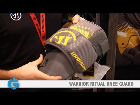 Warrior Ritual Goalie Knee Guards at the Let's Play Hockey Expo
