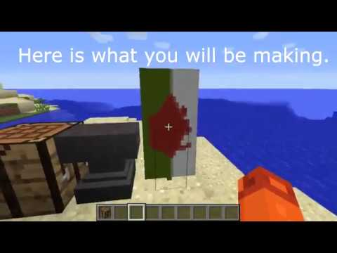 Minecraft - How to make the Welsh flag.