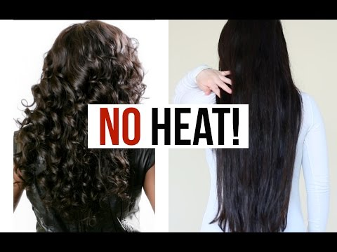 How To Straighten Hair WITHOUT HEAT! (MY Straight Hair Tutorial)