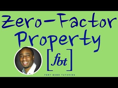 Solving Quadratic Equations: The Zero-Factor Property Pt. 1 [fbt] (Zero Factor Property)