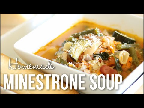 Homemade Minestrone Soup!! - Hearty Italian Soup Recipe