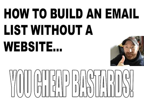 How I would build an email list without a website | List building Strategies for beginners
