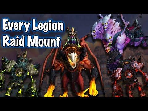 Jessiehealz - All Legion Raid Boss Mounts (Wut do waiting for BfA)