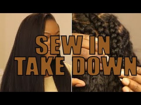 How to Take Out a Sew in Weave by Yourself