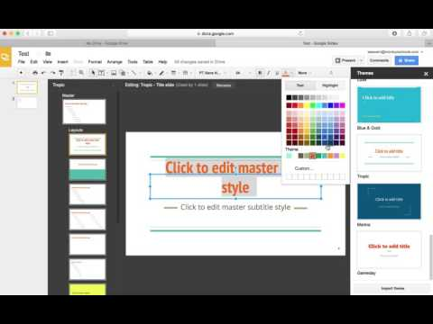 How to Change Fonts in Google Slides