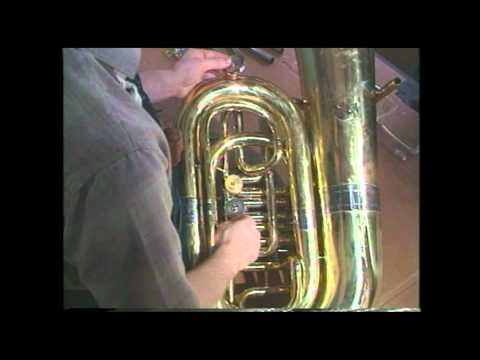 Tuba Repair #12  Rotary Valve Removal - Jeff Funderburk