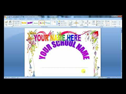How to design front page of project in Microsoft Office Word 2017