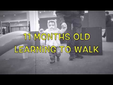 Walking stages of 11 months old