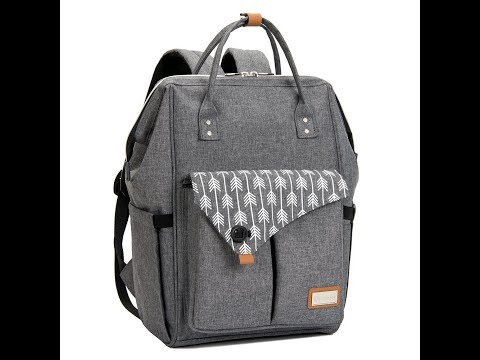 Lekebaby Baby Nappy Changing Backpack Bag with Changing Mat