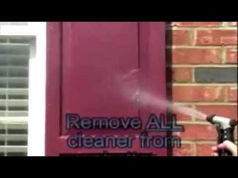 How to clean faded vinyl shutter & vinyl siding with Shutter Renu Restoration