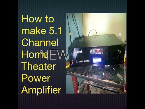 How to Make 5.1 Channel Home Theater System with Remote Control and Optical input